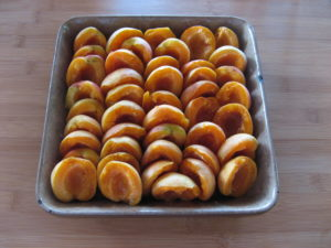 Crumble d'abricots et poudre d'amande