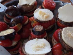 Millefeuille d'aubergines et tomates