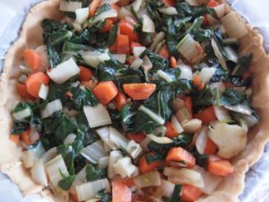 Tarte farine pois chiche et riz aux algues
