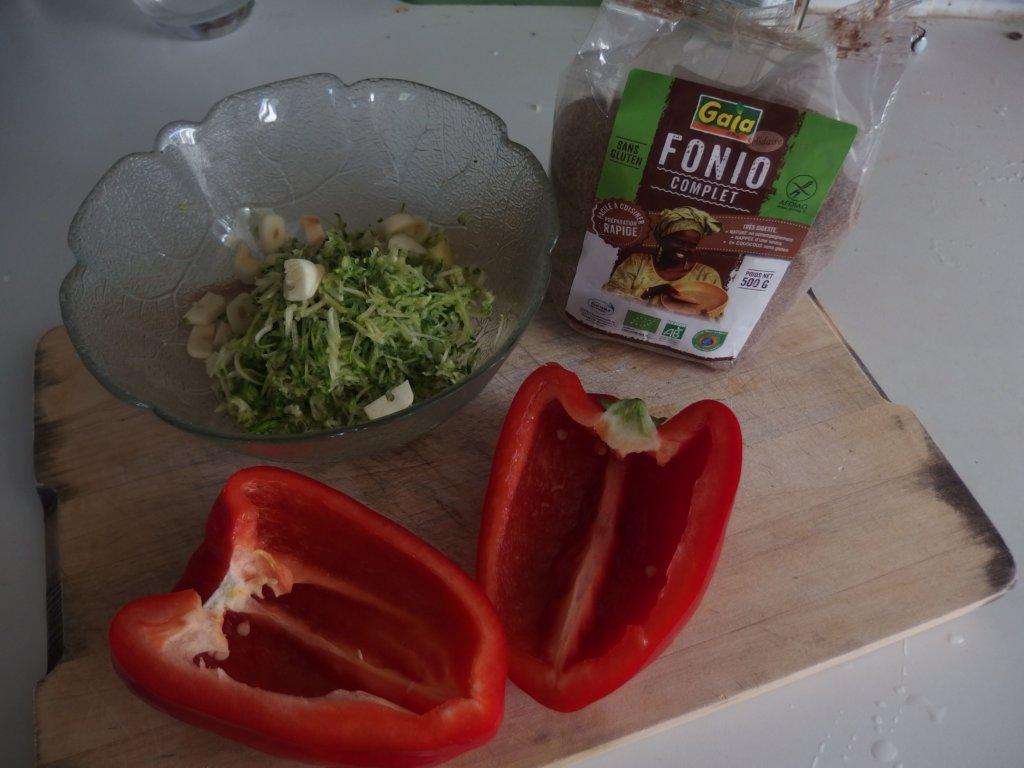 Poivrons au Fonio (sans gluten)