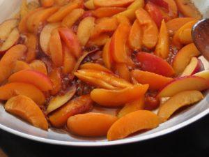 Abricots et nectarines caramélisés