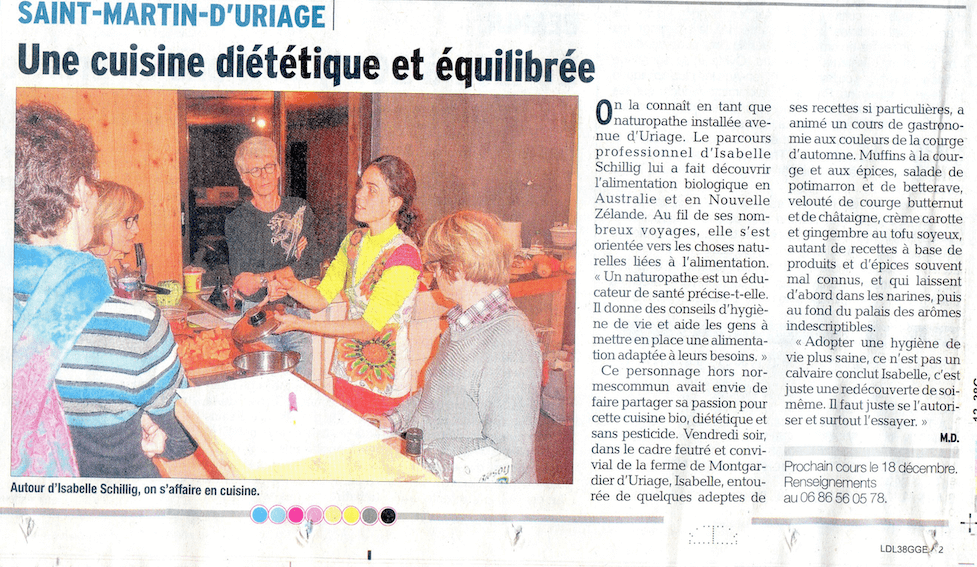 Cours cuisine Uriage Green&Cook