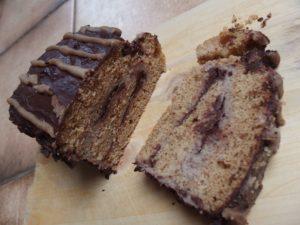 Buche au chocolat châtaignes sans beurre
