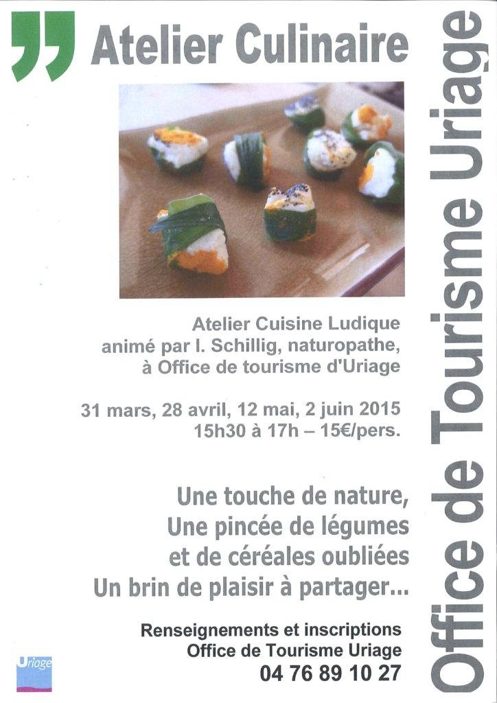 Atelier culinaire avec office du tourisme d'Uriage