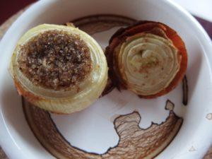 Oignon farci au fonio sans gluten