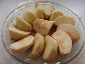 Quartiers de pommes pour tarte Tatin