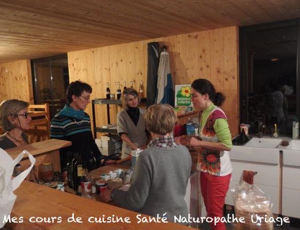 Mes cours de cuisine santé Naturopathe Uriage