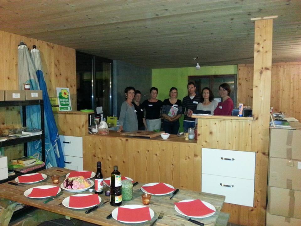 Cours cuisine Grenoble Uriage 18:09:2015, ferme Montgardier
