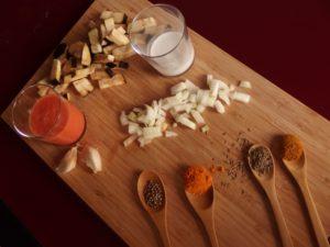 Curry coco aux protéines de soja (végétalien)