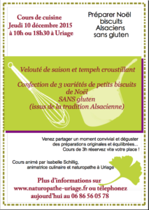 Cours cuisine Grenoble Uriage 10:12:2015