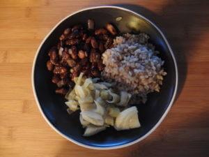Haricots rouges, riz et fenouil