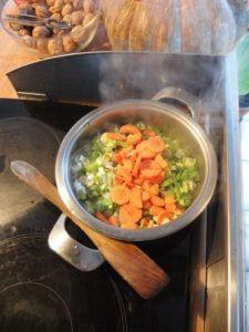 légumes revenus dans l'huile d'olive