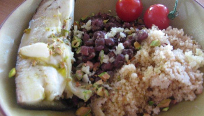 Azukis à la pistache et au gingembre
